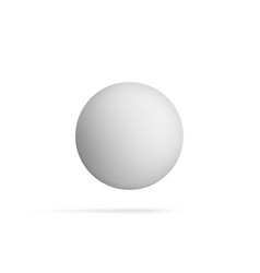 realistic blank sphere shape flying in the air vector image