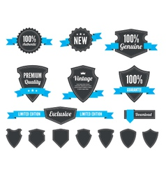 Retro badges and shields vector