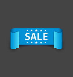 Sale ribbon icon discount sold sticker label on vector