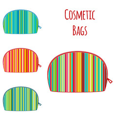 Set of cosmetic make up colorful bright vector