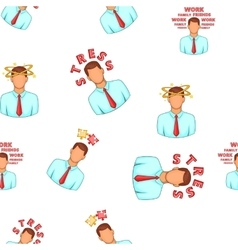 Stress pattern cartoon style vector
