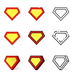 Superhero icons set vector image vector image