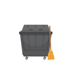 Trash dumpster isolated on vector