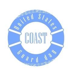 United states coast guard day holiday vector