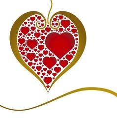 Heart of love vector