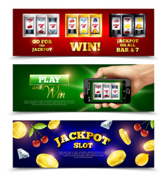 Slot machine banners set vector