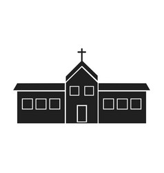 Building church religion christianity design vector