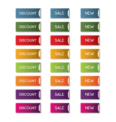 Discount sale new button set vector