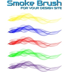 Smoke brush for your design site vector