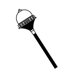 Royal scepter accessory authority element vector