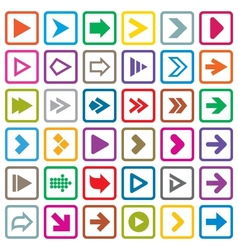 Arrow sign icon set Internet buttons on white vector image