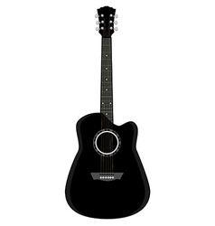 Black guitar vector image
