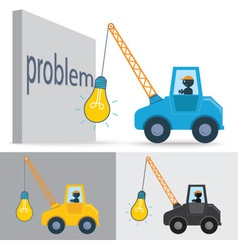 Lamp crane idea vector