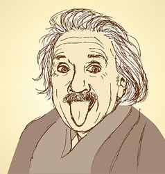 Sketch albert einstein in vintage style vector