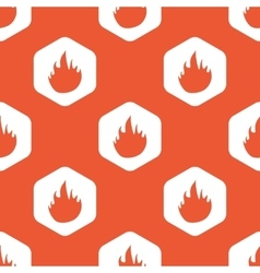 Orange hexagon fire pattern vector