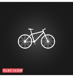 Bicycle flat icon vector