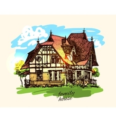 Country house vector
