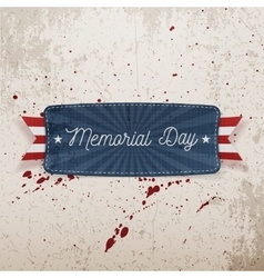 Memorial day festive banner with text vector
