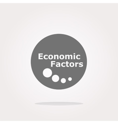 Economic factors web button icon isolated vector