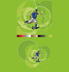 Abstract image of soccer player with ball vector