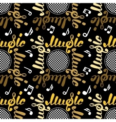 Abstract music seamless pattern vector