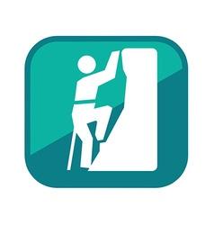 Alpinist man logo vector image
