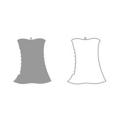 Apple core grey set icon vector