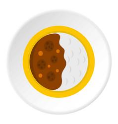 Asian soup icon circle vector