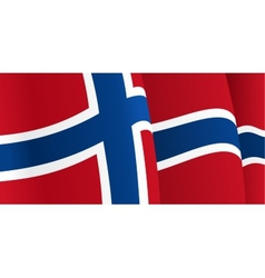 Background with waving norwegian flag vector