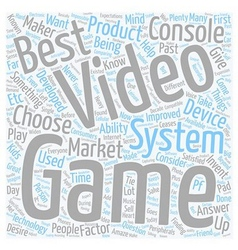 Best video game system text background wordcloud vector