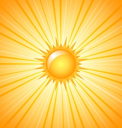 Big shining sun vector image