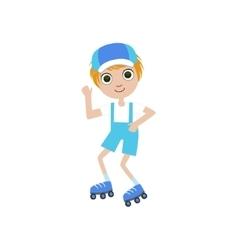 Boy on roller skates vector