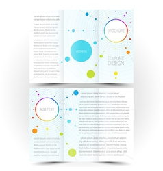 brochure design template trifold leaflet colored vector image vector image
