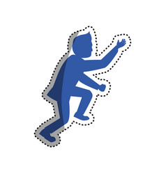 businessman climbing to success vector image