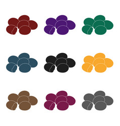chocolate dragee icon in black style isolated on vector image vector image