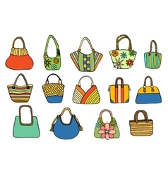 Collection design handbags vector image