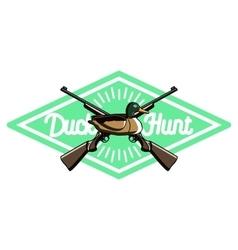 Color vintage hunting emblem vector image vector image