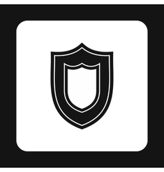 Combat shield icon simple style vector