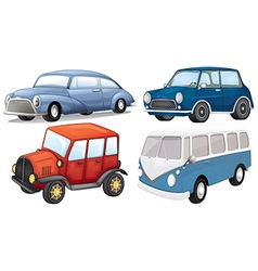 Different vehicle styles vector image vector image