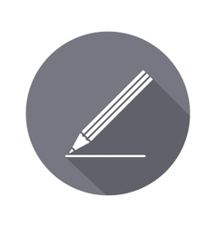 Drawing tools pencil icon education school vector