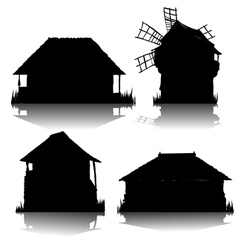 ecological country houses vector image