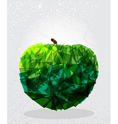 Green apple geometric shape vector image vector image