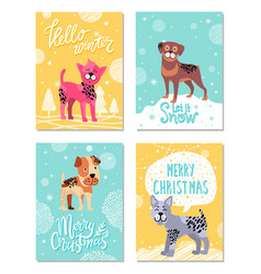 hello winter let it snow on vector image vector image
