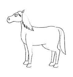 horse animal icon vector image vector image