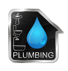 Plumbing and running water at home vector