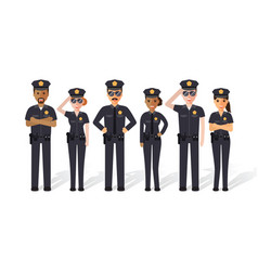 police men and women vector image vector image