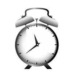 realistic graphic with gray alarm clock vector image vector image