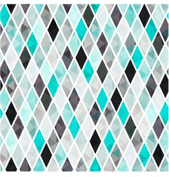 seamless turquoise rhombus pattern background vector image vector image