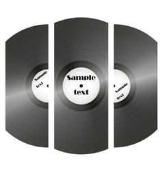 set of retro music vinyl records vector image