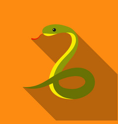 Snake icon flat singe animal icon from the big vector